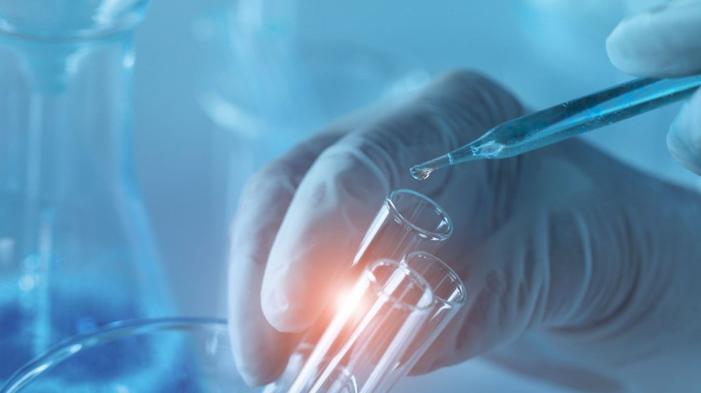 genetic research and biotech science concept